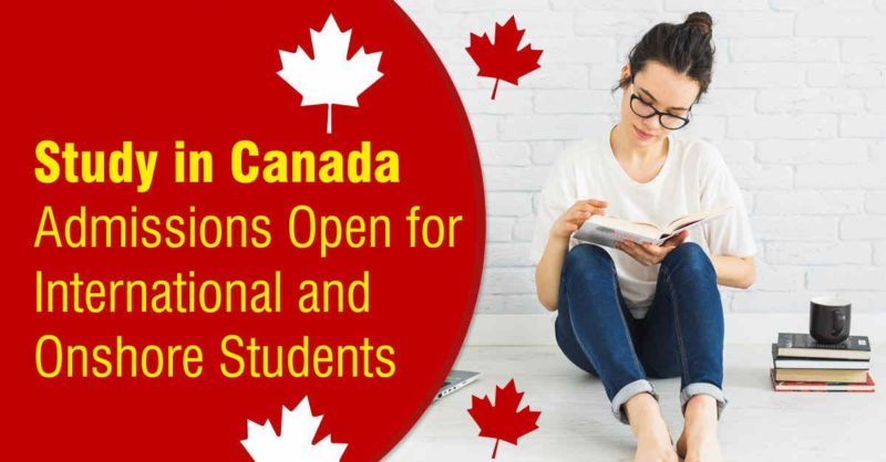 Admissions open for international and onshore students